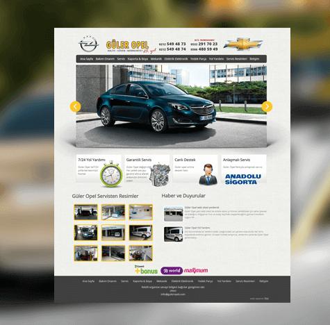 Güler Opel Web Tasarımı