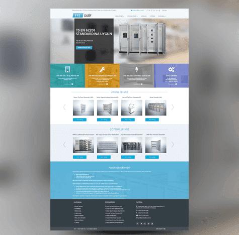Panel Kabin Web Site tasarımı