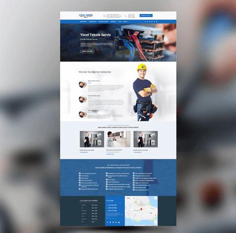 Yücel Teknik Servis Web Tasarımı